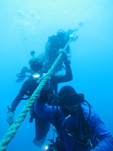 Scuba diving trip to the Vandenburg Shipwreck, Key West May 2015